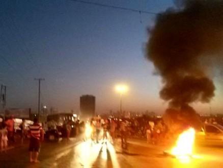 Moradores protestam por infraestrutura na saída para Chapada