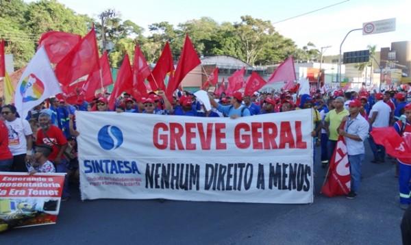 Mais de 30 mil manifestante contra as Reformas de Temer nas ruas de Cuiabá/MT